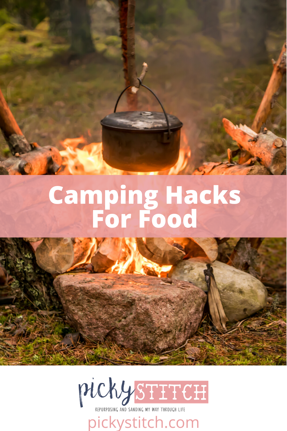 Take the hassle out of camping with these camping hacks to make your camping life easier! #campingideas #campingmadeeasy #pickystitchblog
