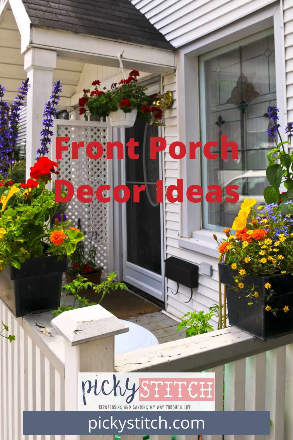 A front porch is cozy, but what truly makes it inviting is the front porch decor ideas. Bright colors, textiles like pillows, textures like plants and more call to those who could use a break and put their feet up.Learn how to make your porch inviting by reading on.#frontporchdecorideas #frontporchdecorideassummer #frontporchdecorcurbappeal