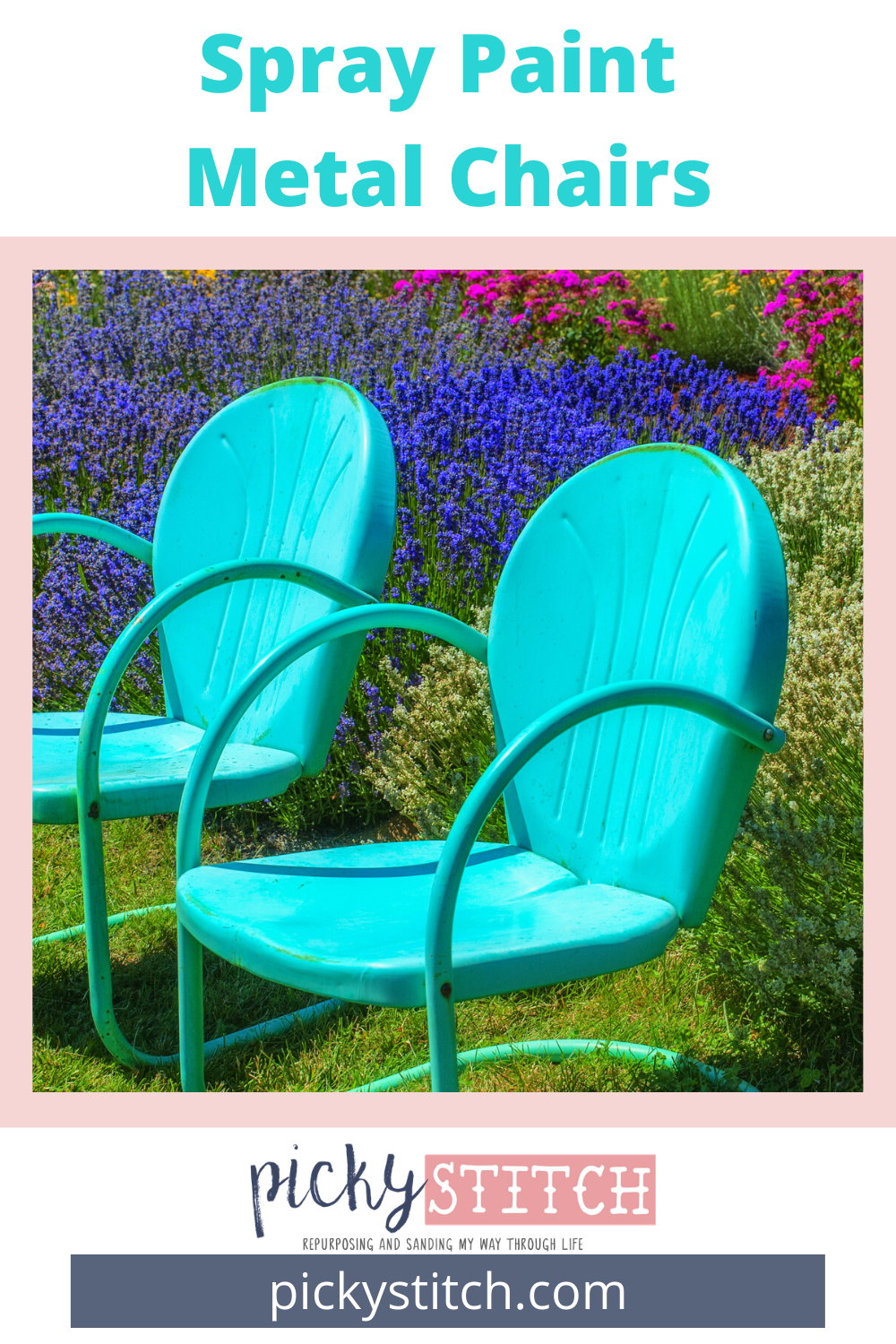 Follow these 6 easy steps and you will have beautiful like-new metal chairs! It's like buying new ones except these are actually the color you want! Follow along and I will show you how to paint metal chairs the easy way! #paintedmetalchairs #howtopaintmetalchairs