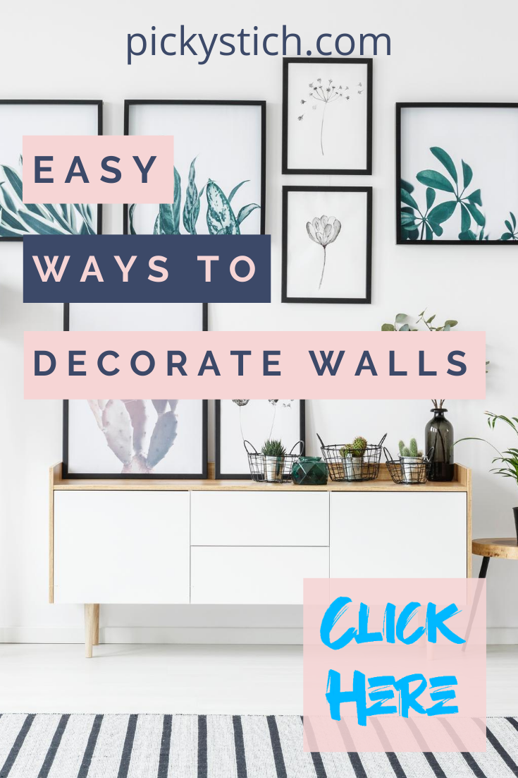 You've got walls; we've got ideas. Ideas for beautiful decor, that is! (And plenty of them for you to choose from.) #pickystitchblog #decor #walls