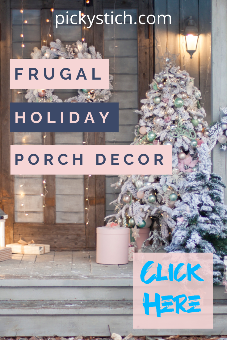 Frugal holiday porch decor is what gets me through the holidays without breaking the bank. It doesn't need to cost a fortune to make your porch festive. Use these ideas and have more money left over for family things and gifts. Keep reading for more info. Happy holidays from Mylistofolists.com #holidaydecor #holidayporchdecorating #mylistoflistsblog