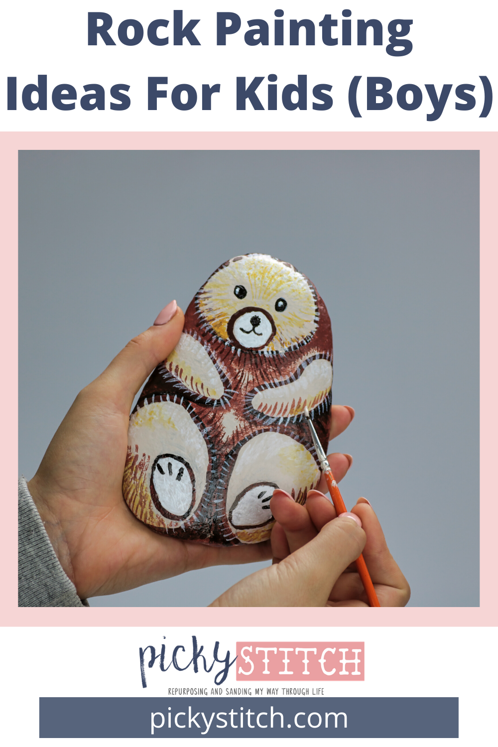 If you want to get the boys interested in painting rocks, just show them some of the ideas from this post. The boys will be all in. Superhero and cartoon ideas work like a charm. #kidscrafts #craftsforboys #indoorcraftsforkids #rockpainting