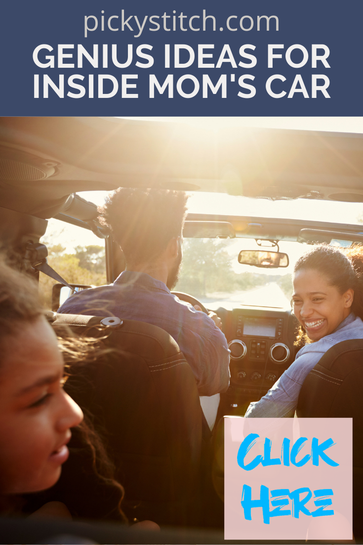 Pickystitch.com is filled with tons of clever DIY ideas. Make things simpler in your daily life all on your own! Every mom should try out this list of simple but ingenious car hacks to make driving with kids easier!