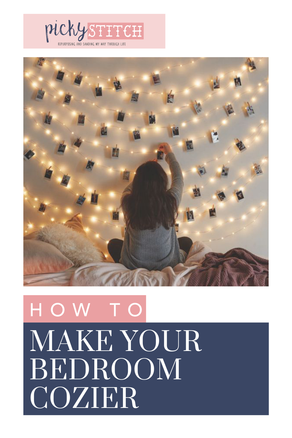 Pickystitch.com knows a thing or two about hands-on projects. Find ways to spruce up any space instantly. These ideas will have your bedroom feeling cozier in a flash.