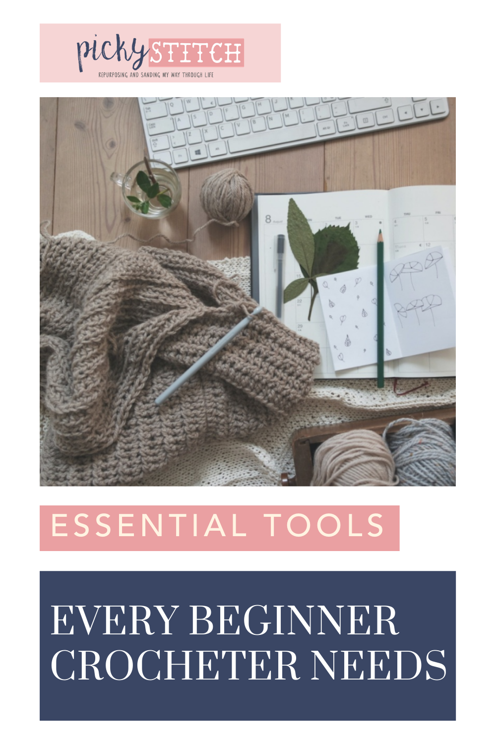 Pickystitch.com is loaded with tips and ideas to help you tackle any DIY project. Thinking about getting into the world of crochet? Find out all of the tools you'll need to get started!
