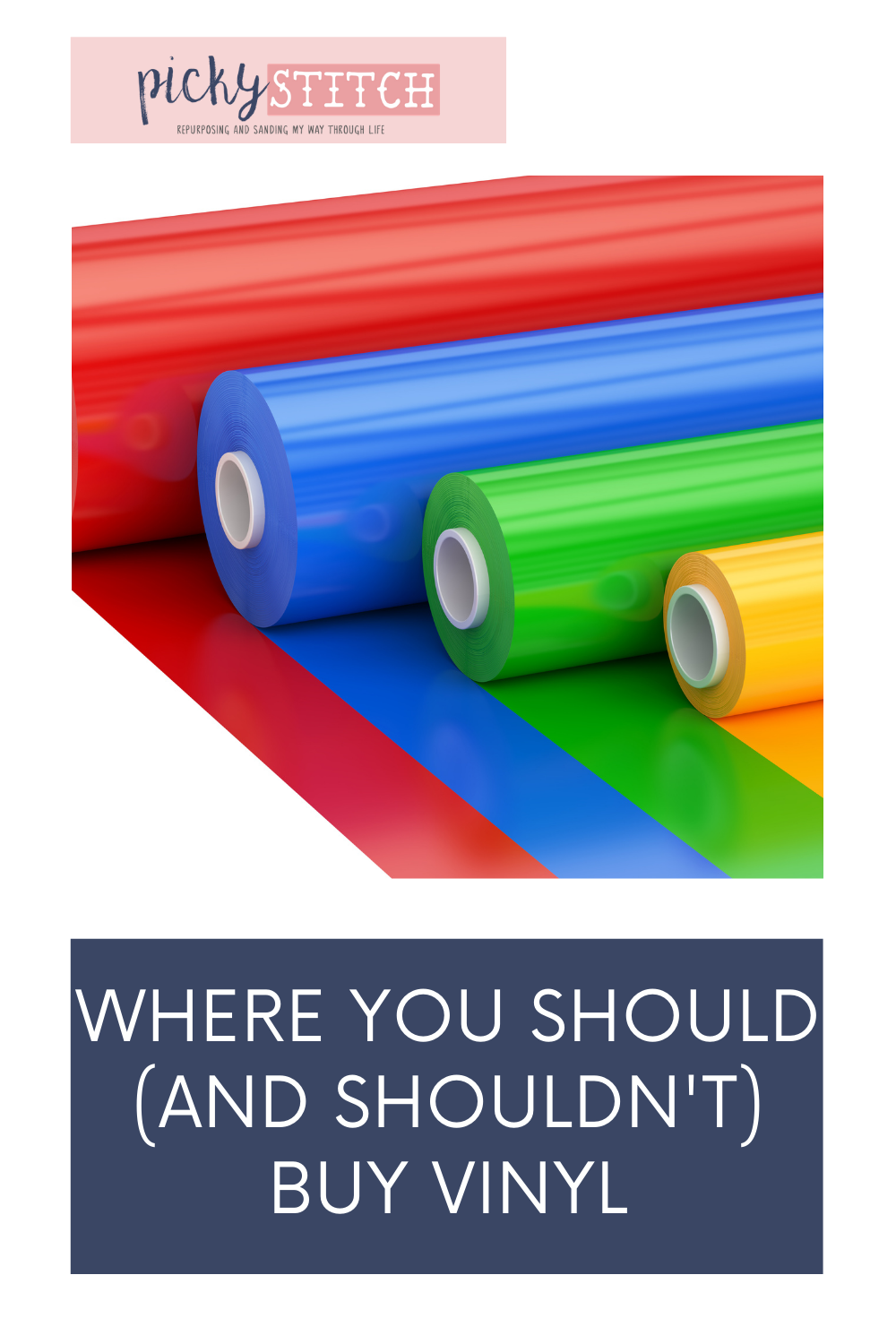 Pickystitch.com has got you covered for all of your DIY and craft needs! Make sure you start every project with the absolute best supplies. Find out where you should be buying your adhesive vinyl from!