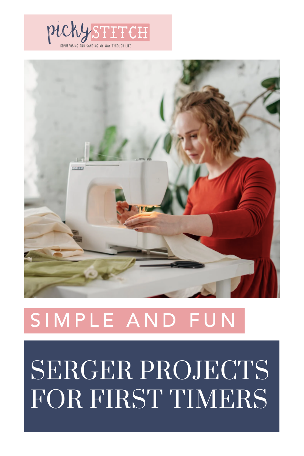 Pickystitch.com is the mecca of crafts! Find project ideas, tips, and more! Get started by learning easy ways to get used to your new serger!
