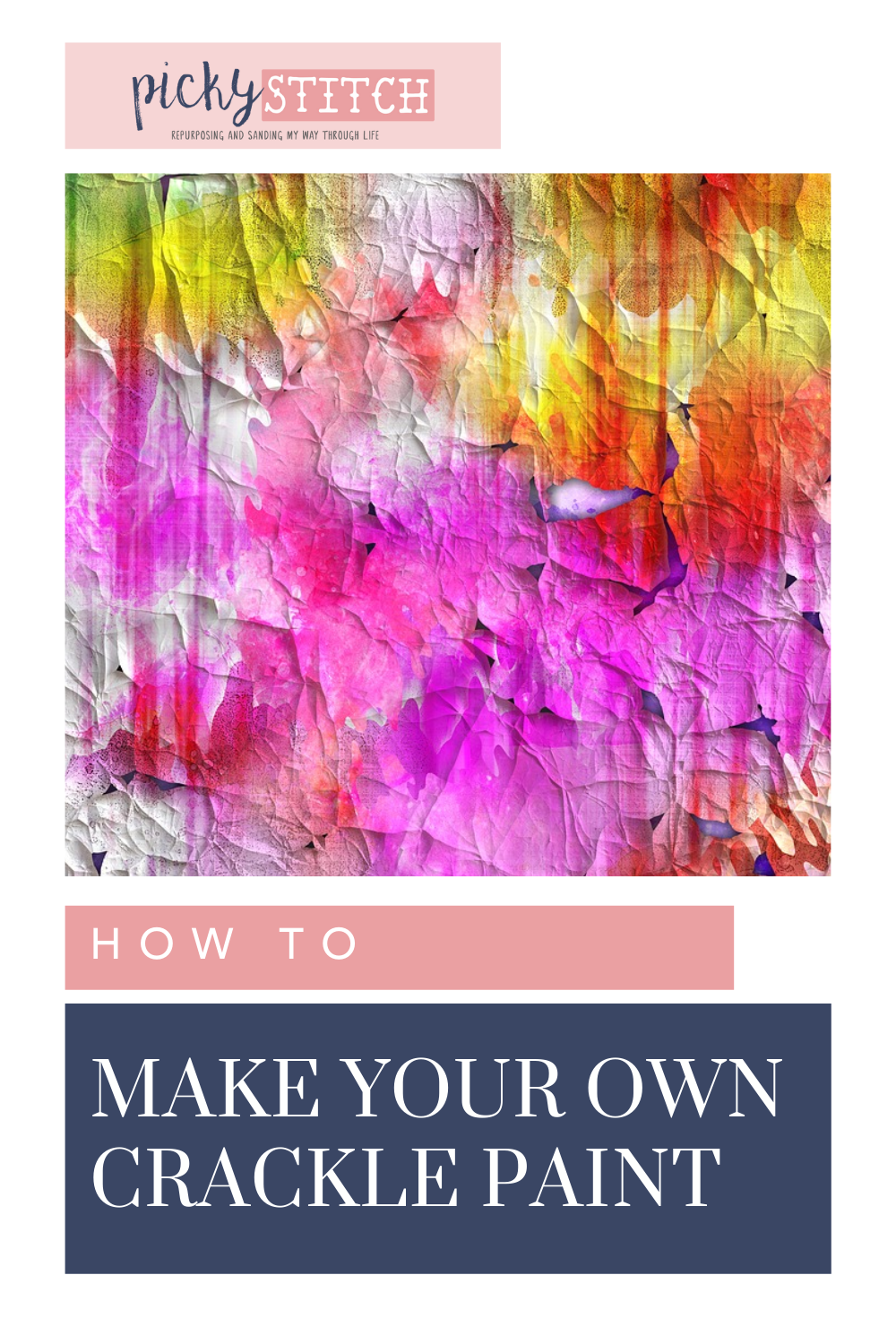 Pickystitch.com has all you need to know about DIY projects! If you've been getting crafty, learn how to make new mediums! Find out how to make crackle paint using glue!