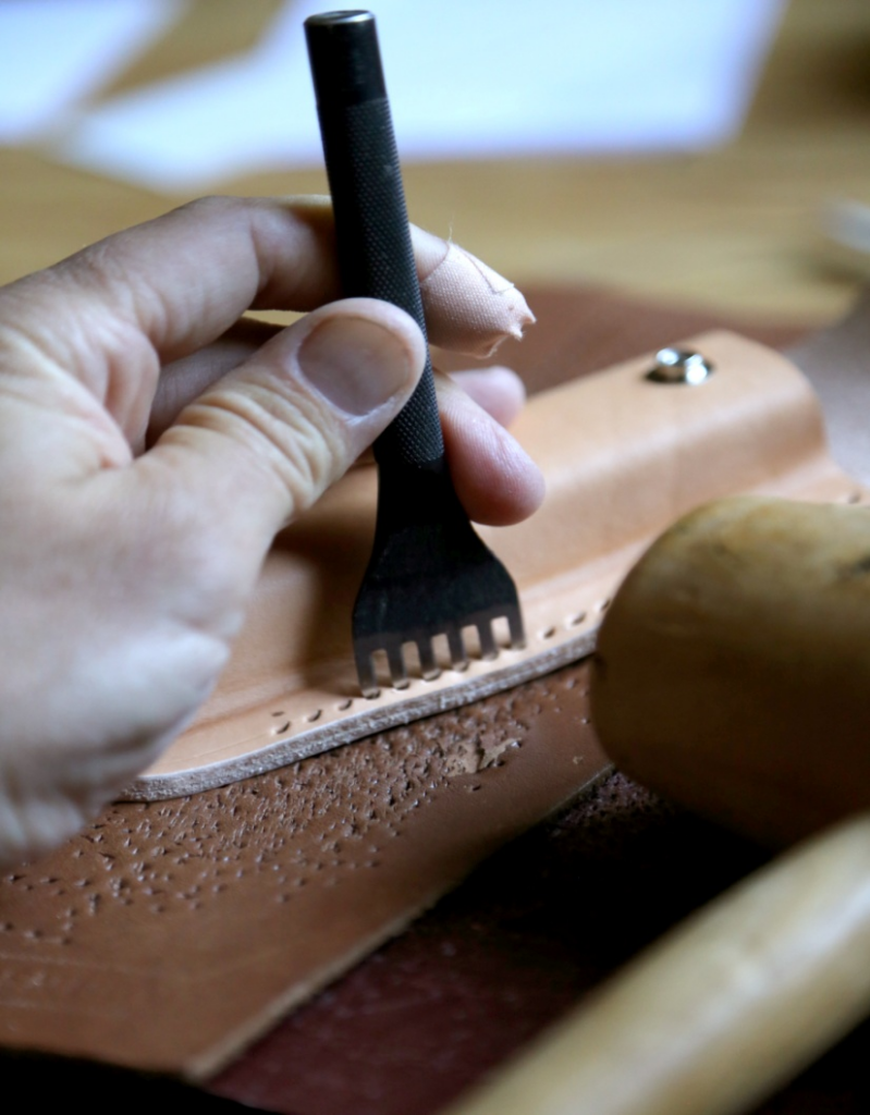 Sewing leather is not an easy task
