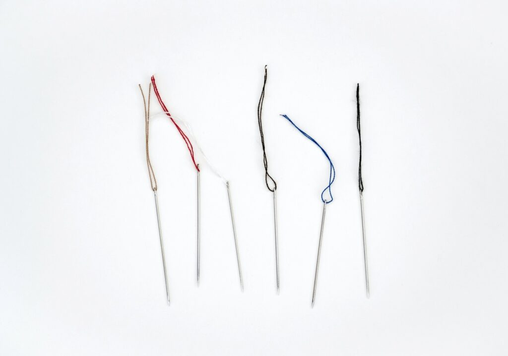 Needles for sewing denim