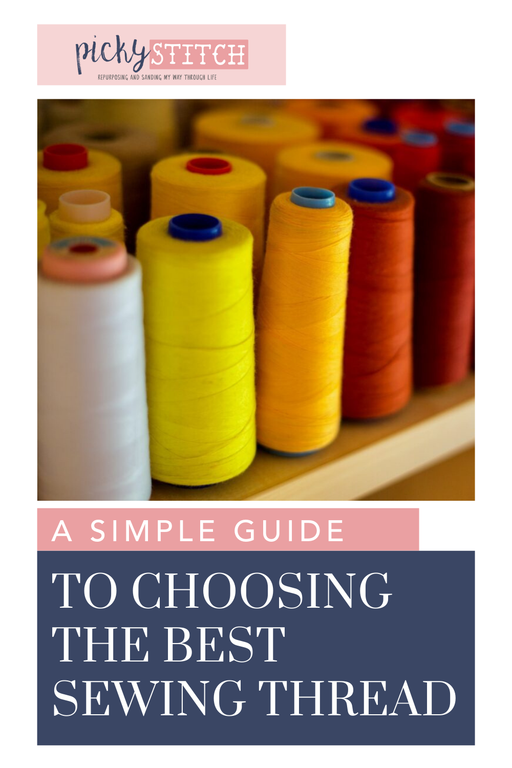Pickystitch.com is the mecca of crafts! Find project ideas, tips, and more! Get started by learning the different types of threads to use for your sewing projects!