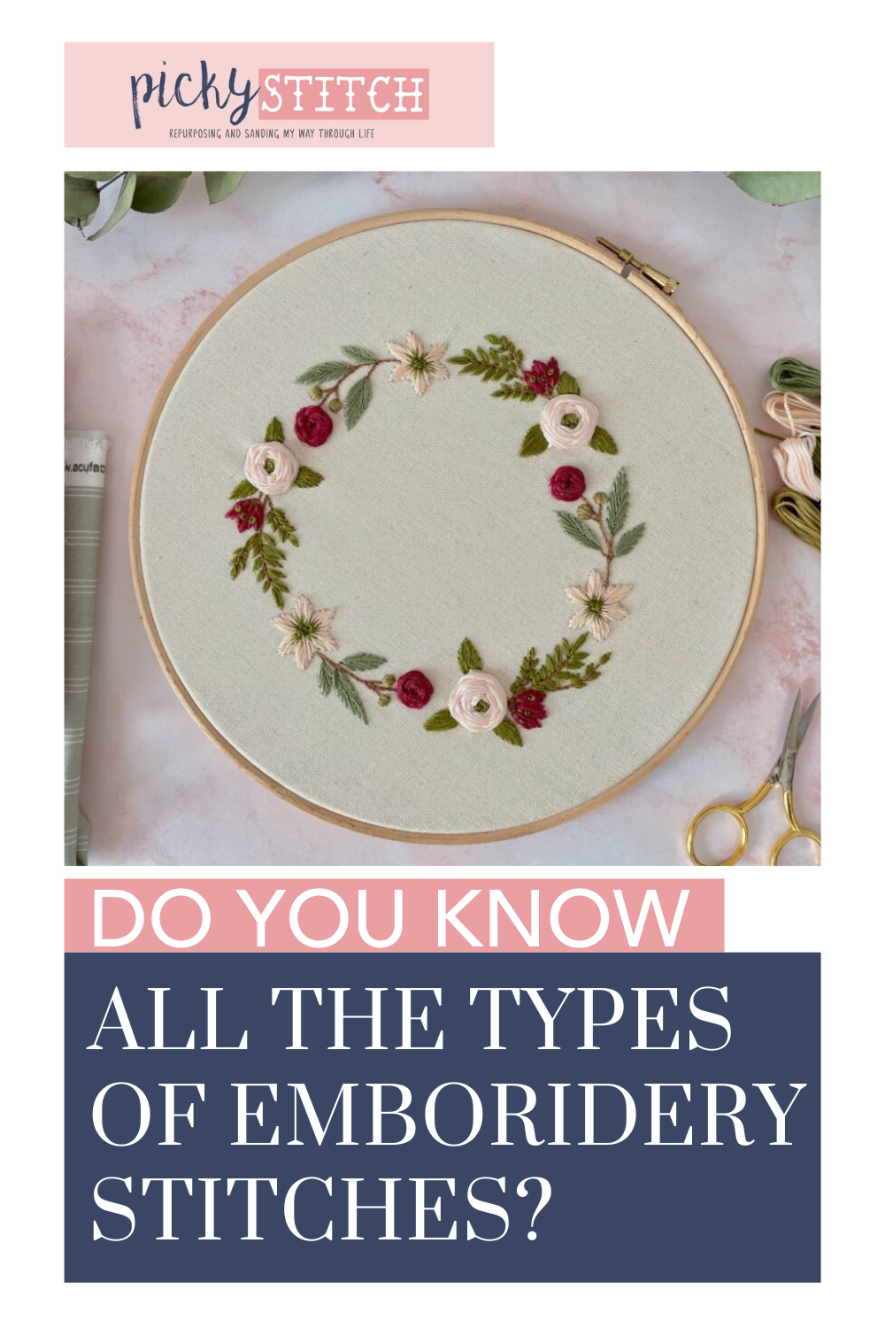 Types Of Embroidery Stitches