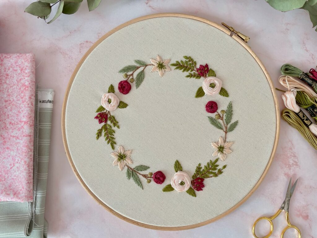 embroidery flowers